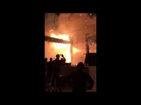 El incendio que acabó con boda en pleno vals
