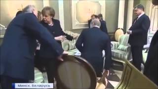 Bладимир Путин и  cтул