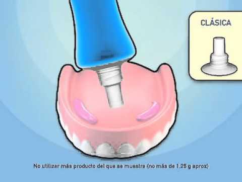 Kukident: Cómo aplicar adhesivo en su dentadura