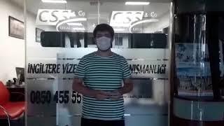 Corona Virüs Zamanında 1 Ayda İngiltere Ankara Anlaşması Vizesi Alındı! - CSS LEGAL