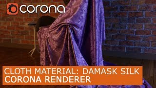 Cloth Material: Damask Silk - Corona Renderer  | 3Ds Max | Tutorials For Beginners ARCHVIZ