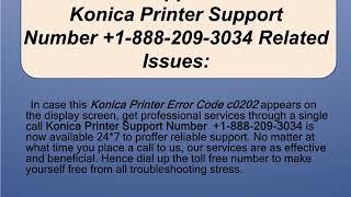 Steps for Konica printer error c0202.