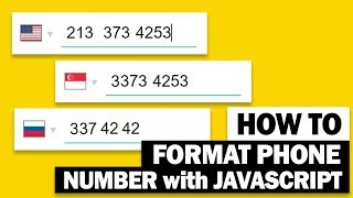 Auto Format Phone Number with SINGLE JavaScript sentence | Cleave.js Tutorial