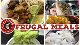 $1 Budget Meals | Chipotle Copycats Meal Prep! | Frugal Family Favorites