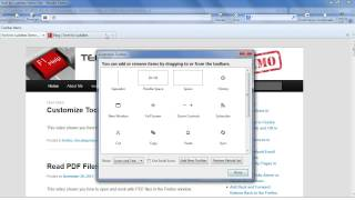 How to Set Up a Toolbar on a Firefox Page
