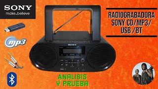 Radiograbadora Sony CD/MP3/USB/BLUETOOTH/AUDIO-IN ZS-RS60BT