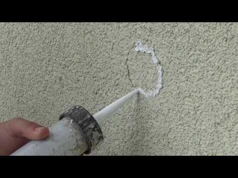 Haarrisse an der Fassade beseitigen
