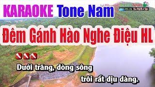 dem-ganh-hao-nghe-dieu-hoai-lang-karaoke-tone-nam-nhac-song-thnah-ngan