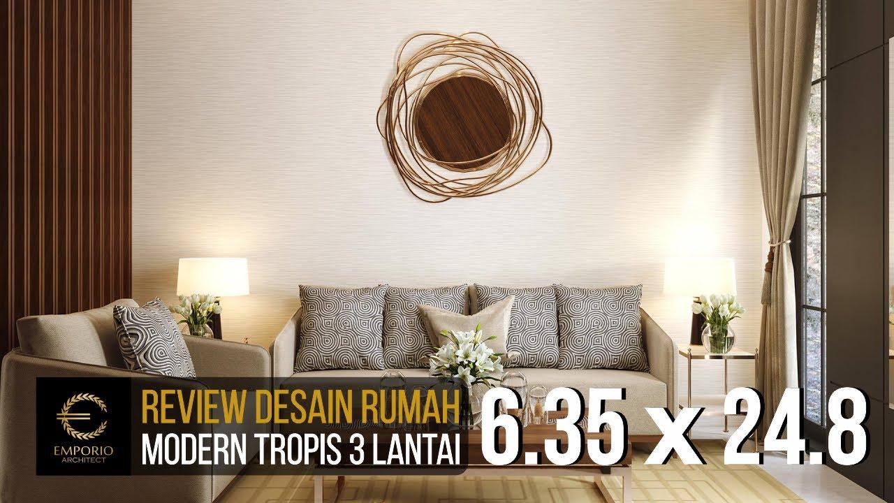 Video 3D Desain Rumah Modern 3 Lantai Ibu Liza Fitria di Bukittinggi, Sumatera Barat