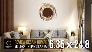 Video Desain Rumah Modern 3 Lantai Ibu Liza Fitria di  Bukittinggi, Sumatera Barat