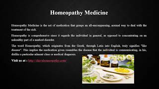 Homeopathy Medicine Singapore