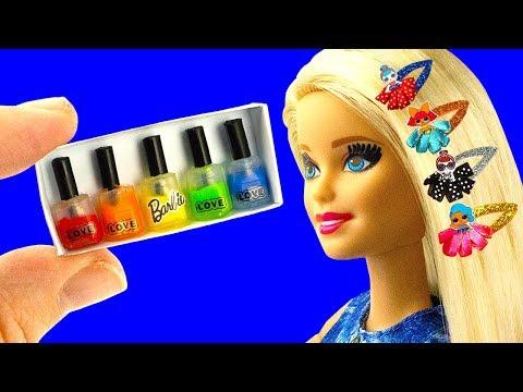10 DIY Barbie doll Hacks: Barbie hair clips, Nail polish set, Baby bike seat, and more