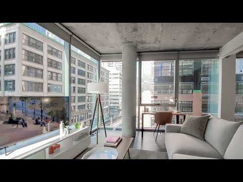 An -02 one-bedroom model at the Loop's new Parkline Chicago
