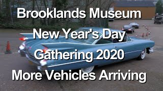 2020 Brooklands Museum New Year's Day Classic Car event Vehicles Arriving