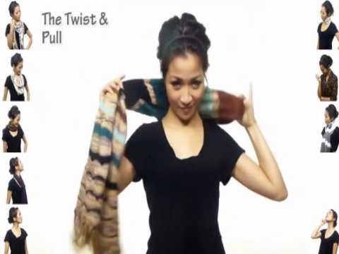 25 Arten einen Schal zu binden mit Videoanleitung