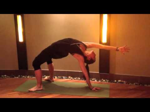 Flip Dog To Wheel Pose (and Back Again) With Om Gal Rebecca Pacheco