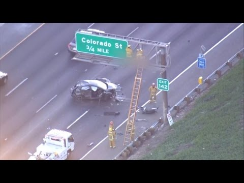 Man Dies After Being Ejected from Car and Landing on Freeway Sign