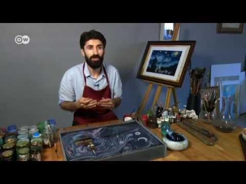 Impressionante: Esse artista pinta Van Gogh na água!