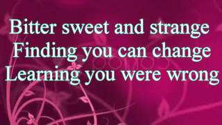 Jordan Sparks - Beauty And the Beast - Lyrics on screen