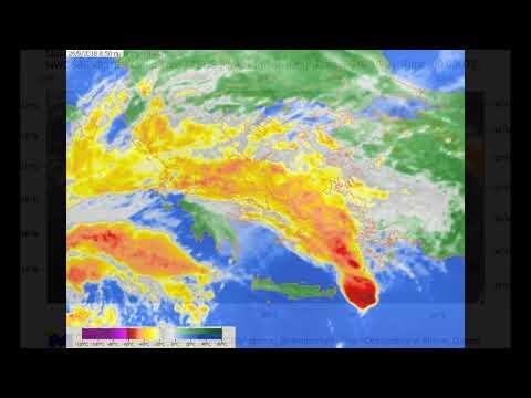 Η πορεία του κυκλώνα «Ζορμπά» από το διάστημα