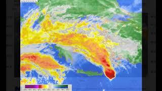 Εντυπωσιακό βίντεο από την πορεία του μεσογειακού κυκλώνα