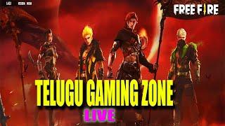 FREE FIRE TELUGU LIVE  | FREE FIRE LIVE IN TELUGU |  | TELUGU GAMING ZONE
