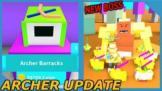 NEW UPDATE! ARCHER TROOPS AND DESERT BOSS IN ROBLOX ARMY CONTROL SIMULATOR