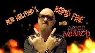 Amon Amarth's Johan Hegg - Rob Halford's Rapid Fire
