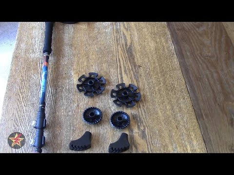 Ohuhu 80% Carbon Fiber Quick Lock Anti Shock Trekking Poles Review