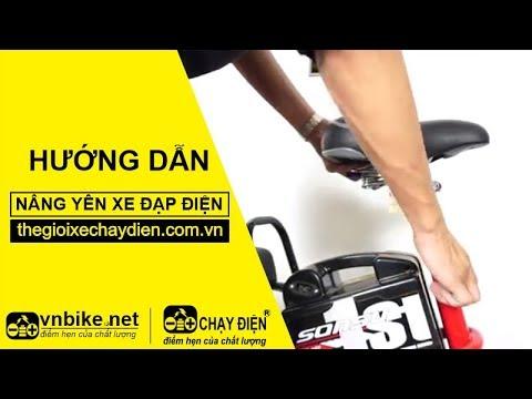 Hướng dẫn nâng yên xe đạp điện