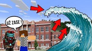 PRVNÍ ŠKOLNÍ DEN VS OBROVSKÉ TSUNAMI !!! - Minecraft Challenge w/ Vendali