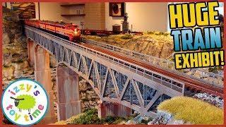 HUGE MODEL TRAIN EXHIBIT! Houston Train Museum!