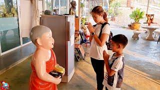 น้องบีม | เที่ยวกาญจนบุรี สวนสัตว์ค่ายสุรสีห์ วัดถ้ำแก้วกาญจนาภิเษก คลิปเต็ม