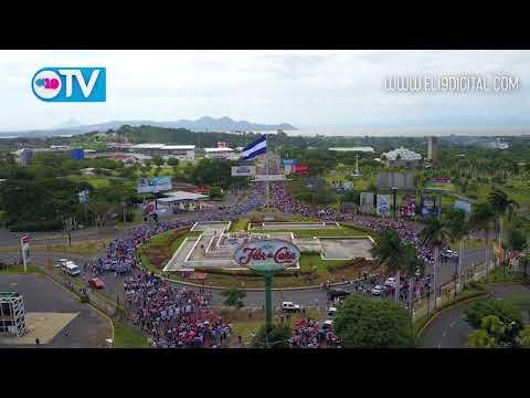 Pueblo nicaragüense participa en caminata pidiendo justicia por las víctimas del terrorismo golpista