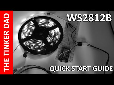 150 LED WS2812B RGB Strip from Banggood - Quick Start Guide