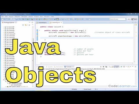 Java Programming Tutorial – 05 – Storing and Accessing Instance Variables of an Object