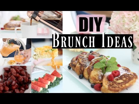 3 Easy Brunch Recipes & Drink  – Spring Brunch Menu –  MissLizHeart