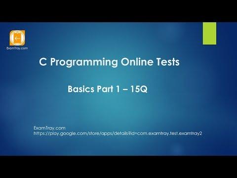 01. C Programming Online Test Introduction Basics - 1 [ Interview ...