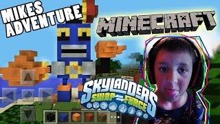 Mikes Minecraft Adventure + Skylanders Countdown Speed Build w/ Face Cam (5 Years Old)