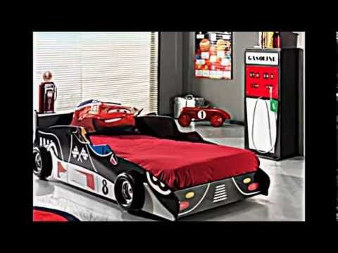 43 Ideen für traumhaftes Auto Kinderbett-- modernes Kinderzimmer Design
