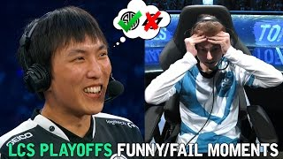 LCS PLAYOFFS FUNNY/FAIL MOMENTS - 2016 Summer Split