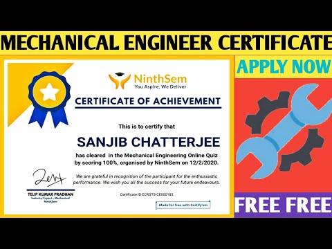 MECHANICAL ENGINEER | Mechanical Engineering Certificate ...