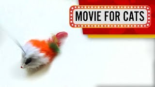 MOVIE FOR CATS - 🐭 FLUFFY TOY MOUSE (ENTERTAINMENT VIDEOS FOR CATS TO WATCH)