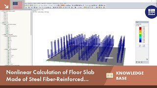 KB 001677 | Nonlinear Calculation of a Floor Slab Made of Steel Fiber Reinforced Concrete in the Serviceability Limit State with RFEM