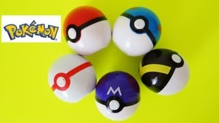5 Pokemon Poke Balls Unboxing