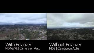 DJI Phantom 3   PolarPro Filter Polarizer vs No Polarizer Comparison