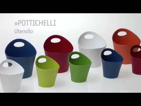 product video of the Pottichelli Utensilo by Koziol