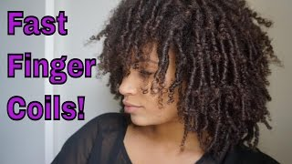 Natural Hair | How To Do Finger Coils Fast!!!
