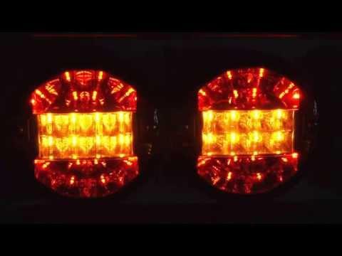 LED Rückleuchten | rund | 12 / 24 Volt | 3 Funktionen