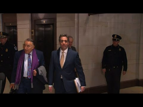 A day after scathing public testimony during which he called Donald Trump a racist and con man, the president's former attorney Michael Cohen is back on Capitol Hill, this time to talk behind closed doors to the House intelligence committee.  (Feb. 28)